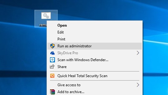 You run the batch file as administrator