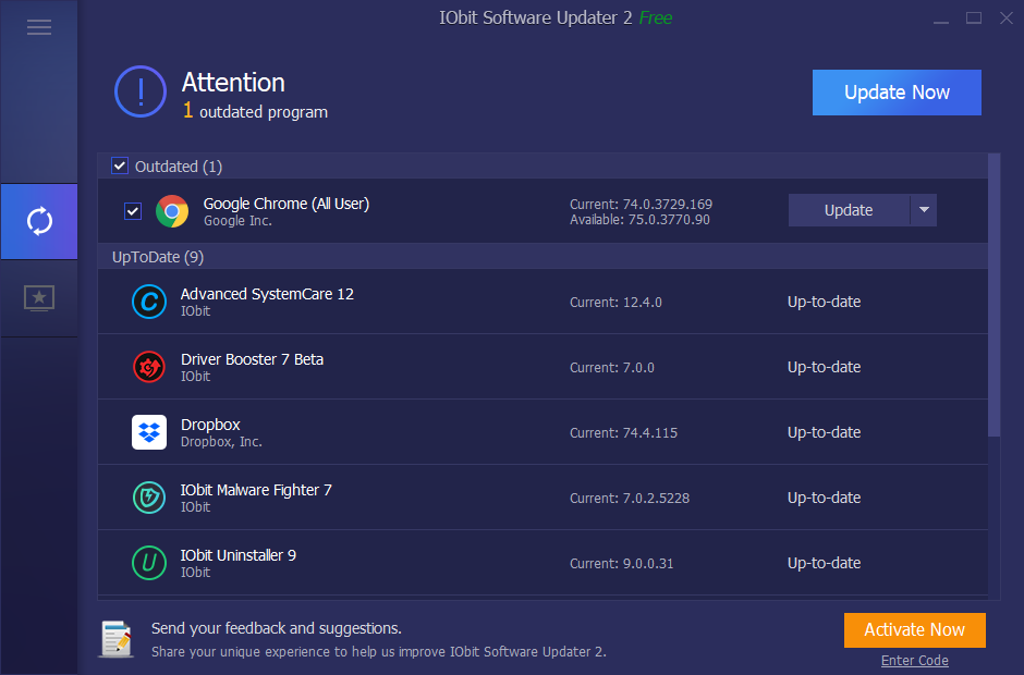 Free Iobit Software Updater Pro Key Giveaway 2019